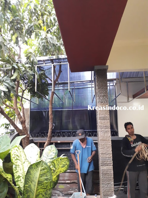 Pemasangan Canopy Stainless Di Rumah Bpk Beni Pesona Khayangan VI Depok