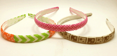 Diademas con washi tape