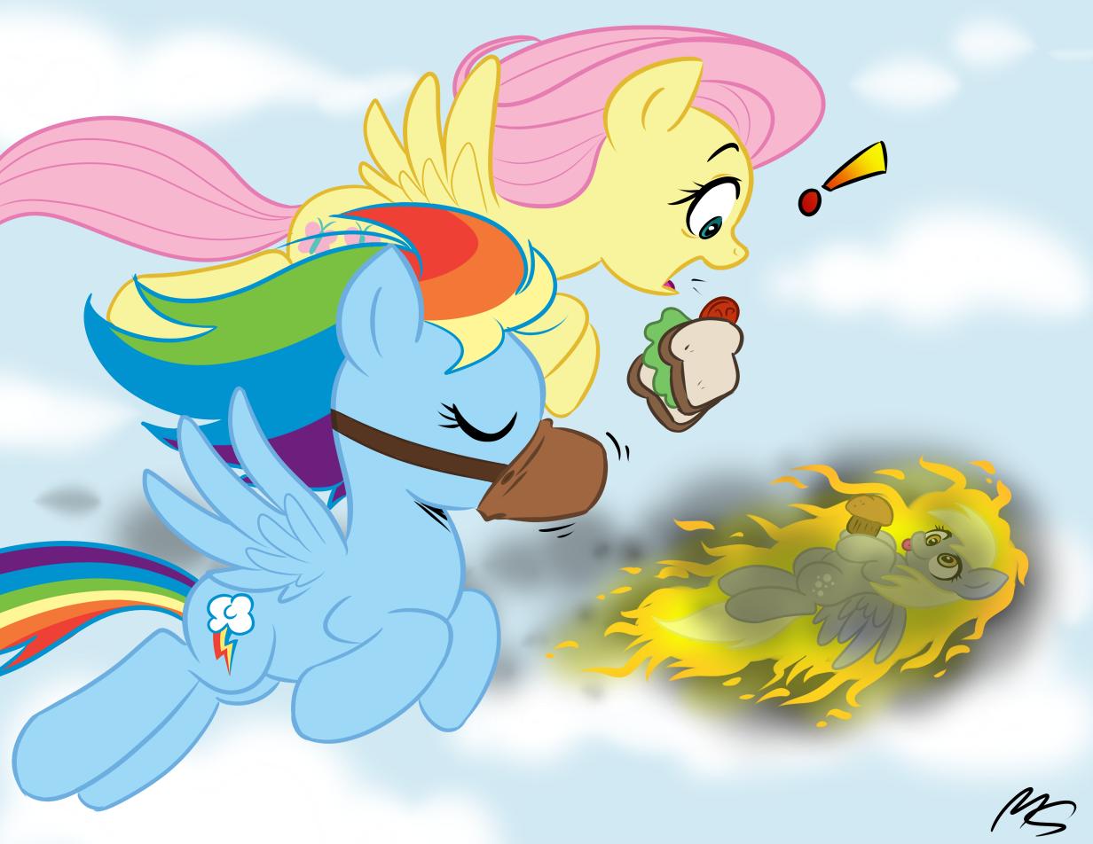 Equestria Daily - MLP Stuff!: Drawfriend Stuff #277  Filly Rainbow Dash And Derpy