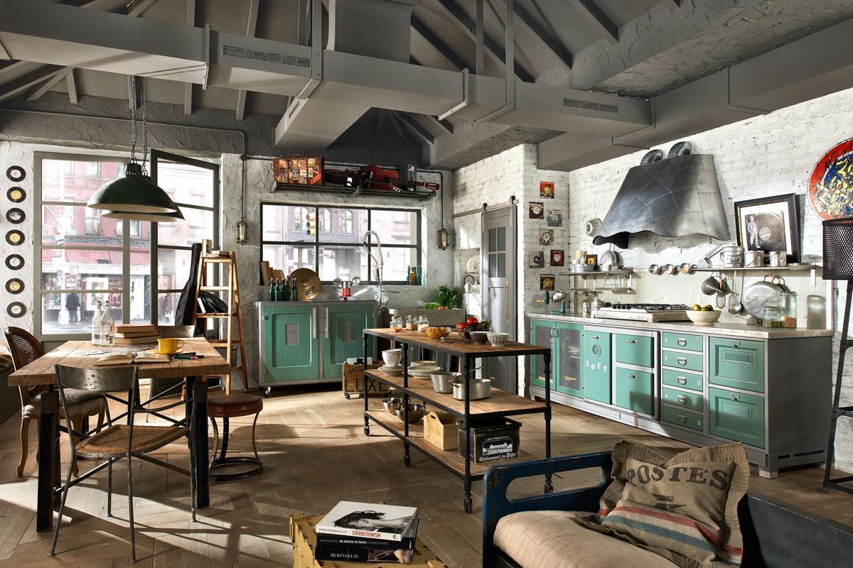 Un tacco 12 per una citt da 10 idee per decorare la cucina for Case loft