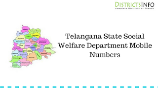 Telangana State Social Welfare Department Mobile Numbers