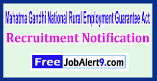 MGNREGA Mahatma Gandhi National Rural Employment Guarantee Act Recruitment Notification 2017  Last Date 19-05-2017