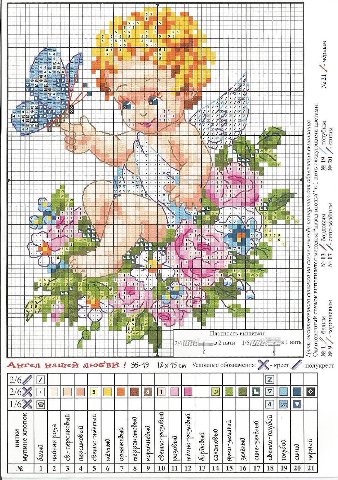 Ангел схема для вышивания фото 734