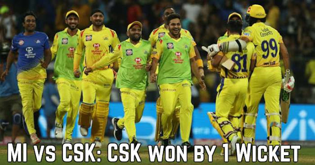 IPL 2018 Match 1 MI vs CSK: Review CSK won by 1 Wicket
