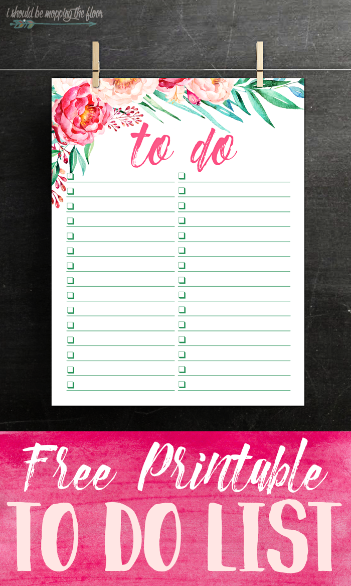 i should be mopping the floor free printable watercolor to do list