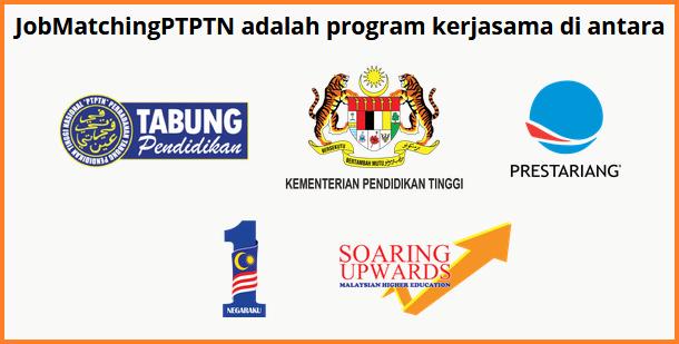 Borang permohonan online Job Matching PTPTN program