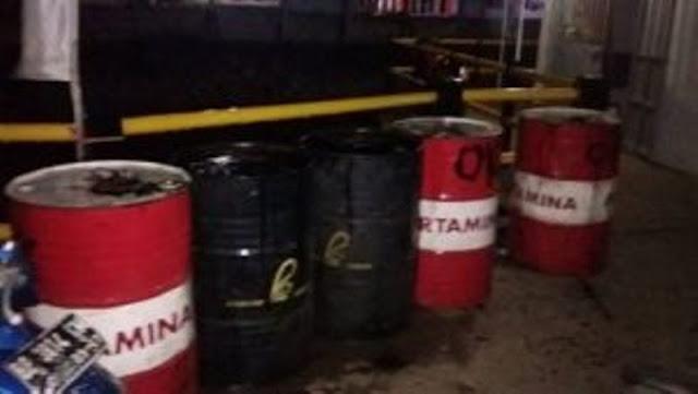 Ditemukan Limbah B3 Jenis Oli di Pelabuhan Roro Punggur