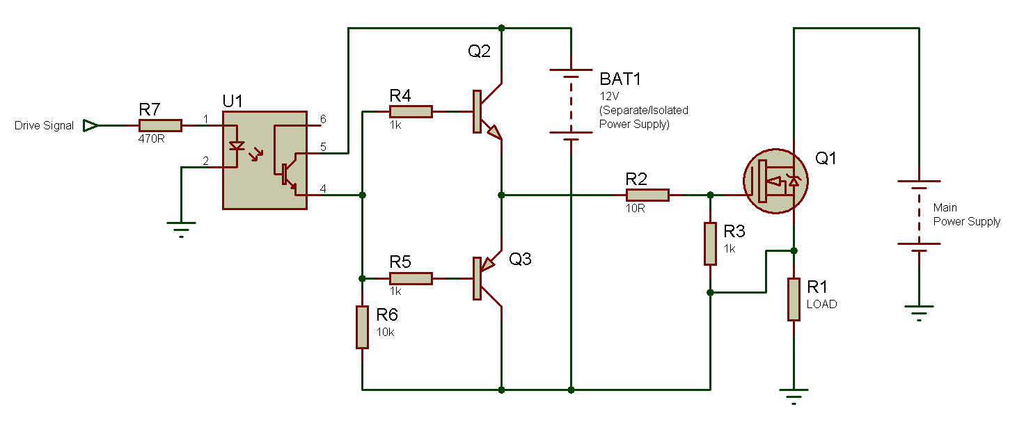 Tahmids Blog N Channel Mosfet High Side Drive When Why And How Test Circuit 3 Driving A From Separate Isolated Power Supply Click Image To Enlarge