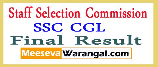 SSC CGL Final Result 2017