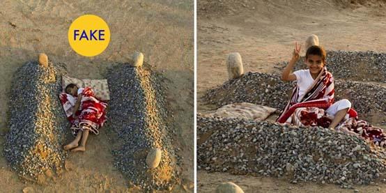 Gambar anak tidur di dalam kuburan