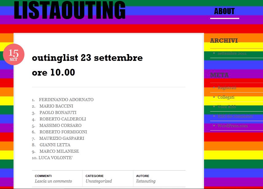Principe kamar settembre 2011 for Lista politici italiani