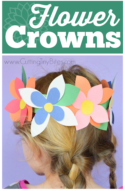 Flower Crown Spring Craft What Can We Do With Paper And Glue