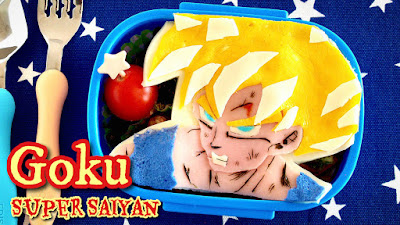 Goku Super Saiyan Bento Lunch Box (Dragon Ball Kyaraben)