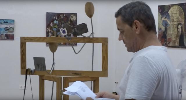 ANTONIO CARBONELL recita sus poemas en ESPACIO ARTESUR Berja