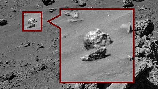 Imagens misteriosas de Marte - Crânio em Marte