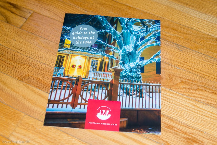 Portland, Maine USA December 2013 photo by Corey Templeton. Going back to December 2013 for this Thursday throwback. My photo of the beautifully decorated copper beech tree at the Portland Museum of Art appears on this recent museum guide.