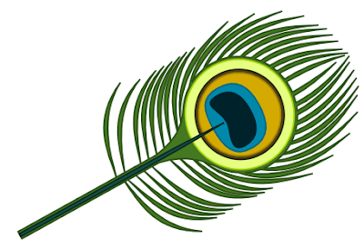 Peacock Feather Vector Art using Inkscape
