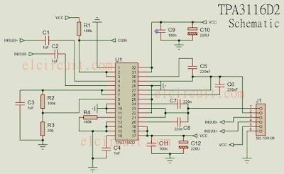 Class D TPA3116D2 schematic circuit skema rangkaian