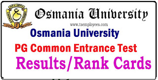 OUCET OU PGCET Results 2017