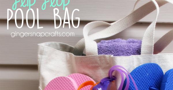 90061fda537445 Ginger Snap Crafts  Flip Flop Pool Bag  tutorial