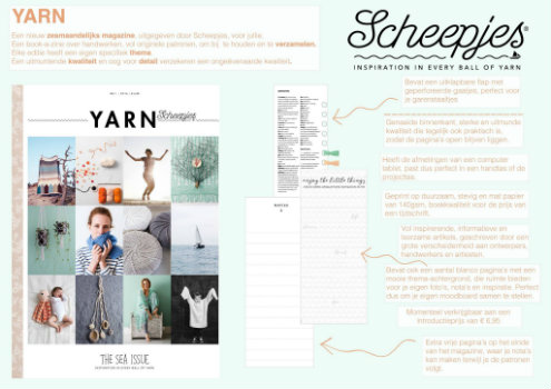 Yarn, the sea issue. Nederlands tijdschrift haken en breien | Happy in Red
