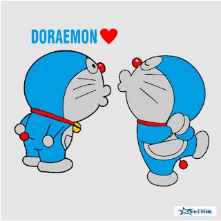 Doraemon Couple Logo Vector cdr