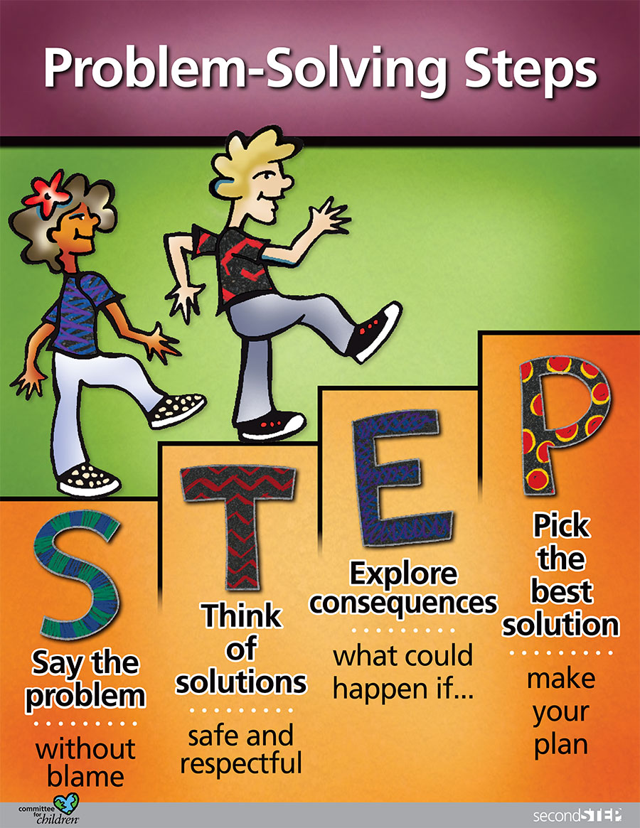4 Steps To Success: Elementary Counseling Blog: Problem Solving Theme
