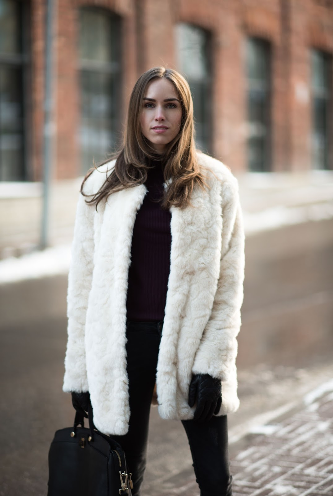 fluffy teddy coat outfit