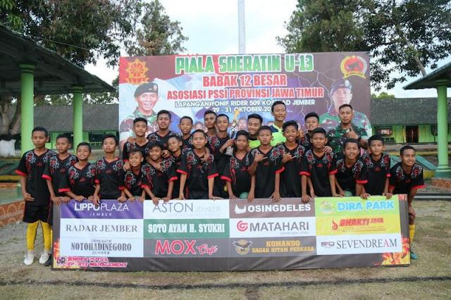 Tim Sepakbola Binaan Yonif Raider 509 Kostrad Lolos Semifinal Piala Soeratin U-13