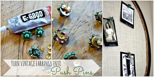 vintage earring push pins