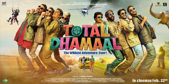 Upcoming Super Comedy Film 'Total Dhamaal' trailer is Trending