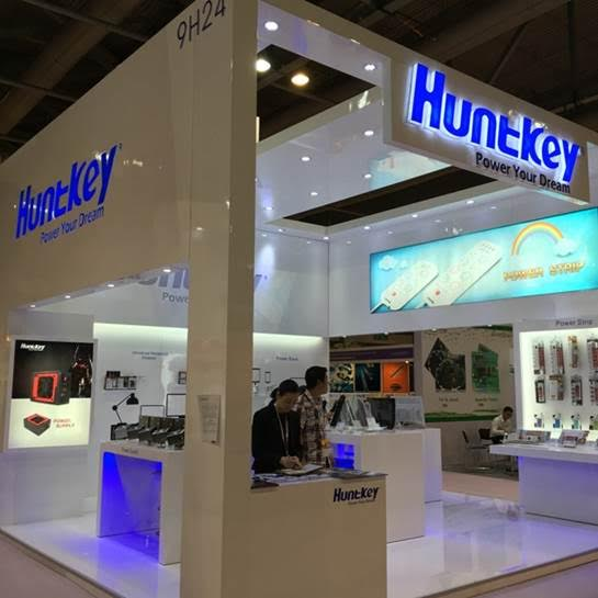 Huntkey booth attracted many visitors