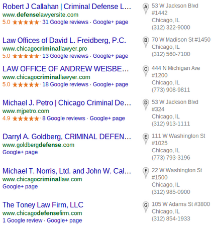 Google Local Listing Pack Spam