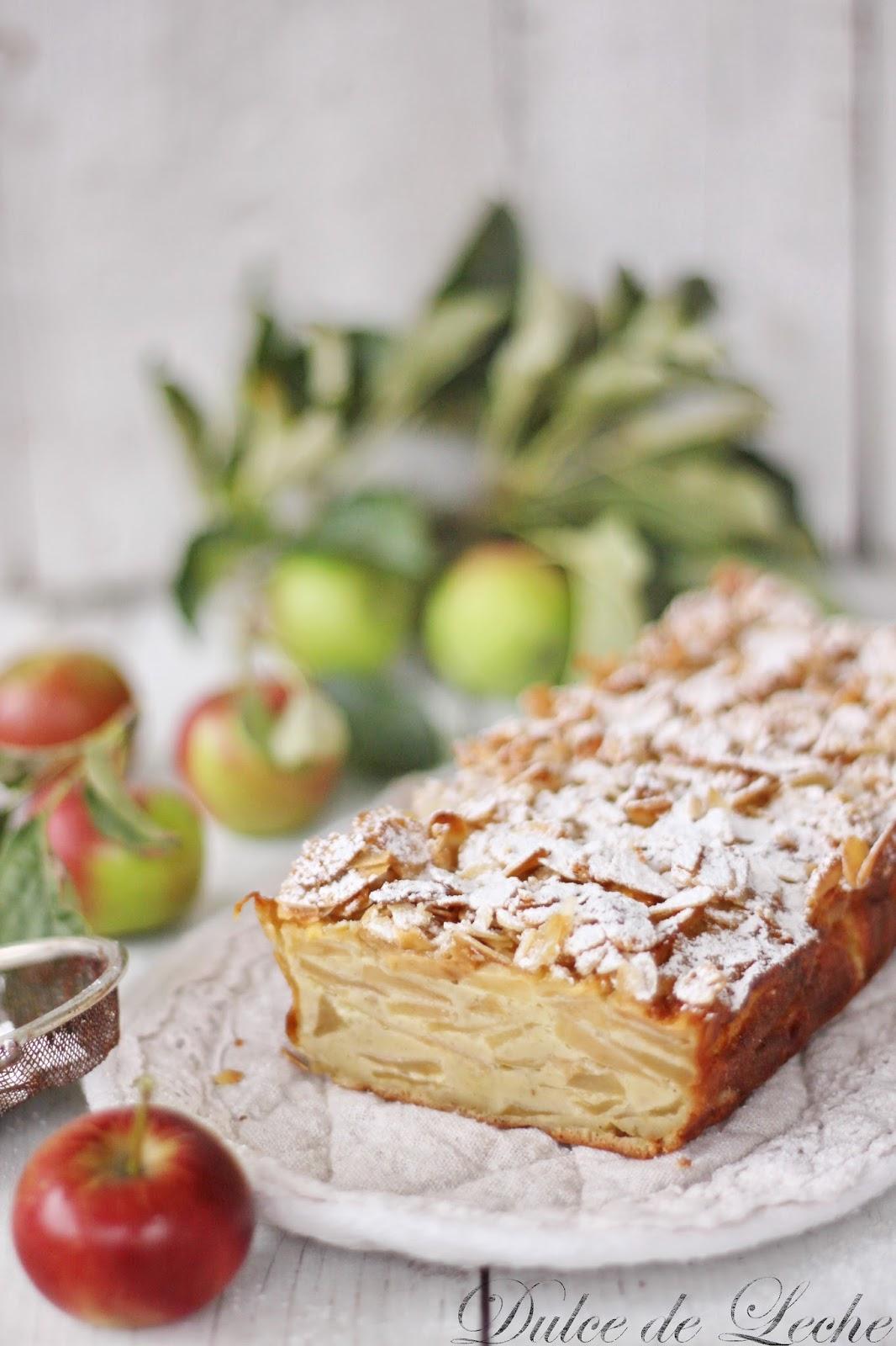 Jablkový koláč s chrumkavými mandľami