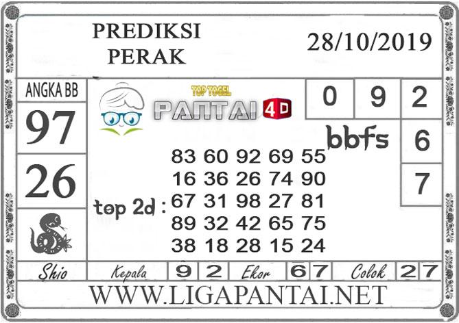"""PREDIKSI TOGEL """"PERAK"""" PANTAI4D 28 OKTOBER 2019"""
