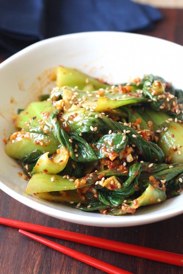 Bok Choy Muchim recipe(Korean Bok Choy Salad) by SeasonWithSpice.com