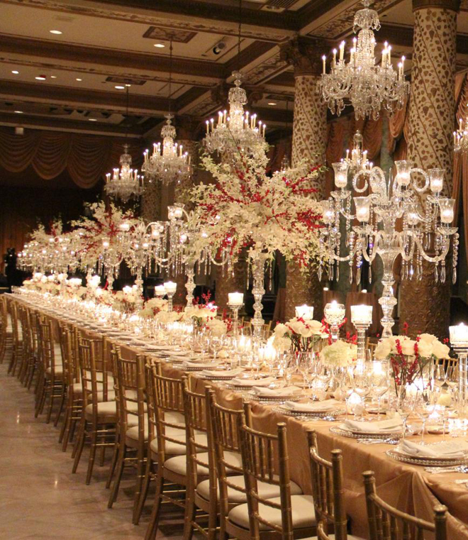 Elegant Wedding Reception Decoration: {Wedding Trends} : Strictly Long Tables