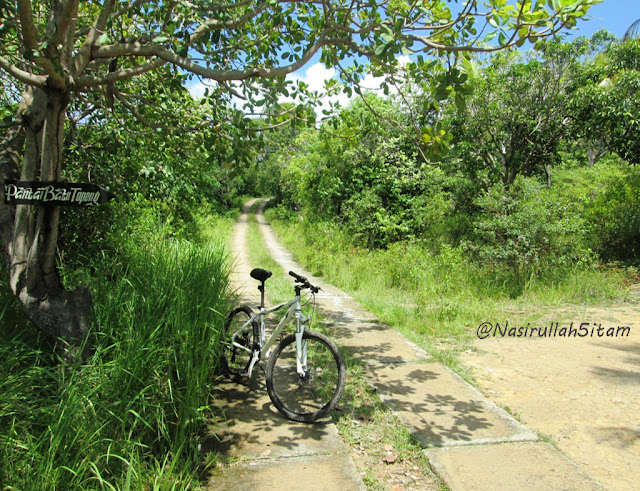 Jalur menuju pantai Watu Topeng