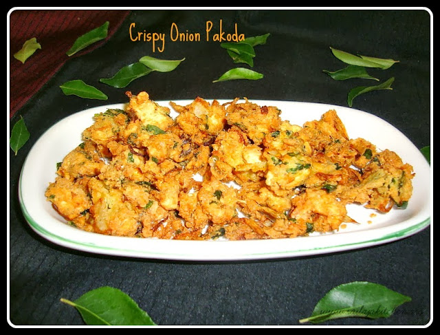 image of Onion Pakoda / Vengaya Pakoda Recipe / Crispy Onion Pakoda Recipe /  Ulli Pakodi - South Indian Style Pakoras