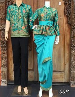 Gambar Model Baju Batik Gamis Couple
