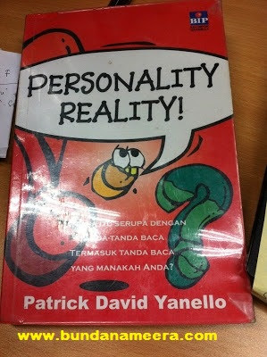 review buku personality reality, kepribadian tanda baca, mengenal kepribadian