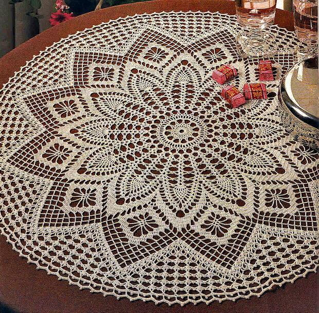 Carpeta circular tejida al crochet