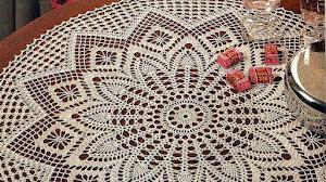 Carpeta circular tejida a crochet / esquema