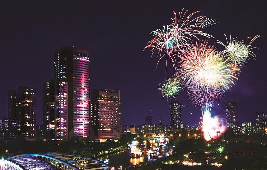 【7月】千年歷史的花火大會——天神祭奉納花火/大阪