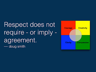 Respect does not require - or imply - agreement. doug smith