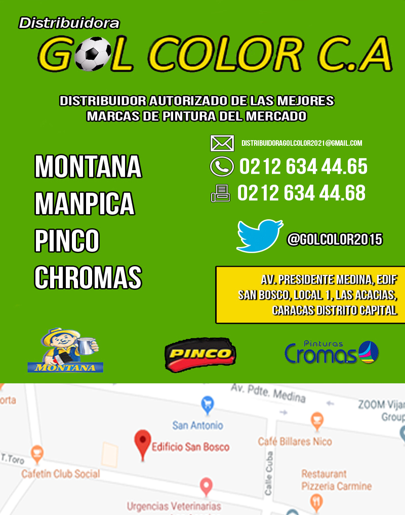DISTRIBUIDORA GOL COLOR C.A. en Paginas Amarillas tu guia Comercial