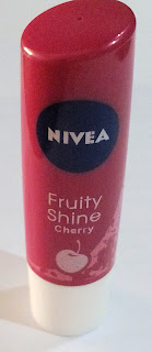 Review: Nivea Fruity Shine lip balm in Cherry with Swatches