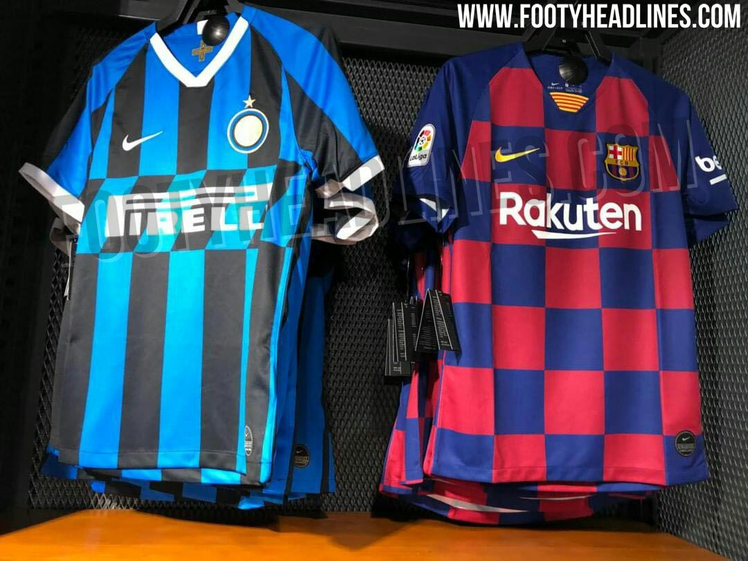 67491bc757e Nike FC Barcelona   Internazionale 2019-2020 Home Jerseys Spotted For Sale