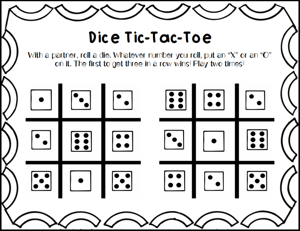 Daisy Designs: Dice Games for Math and Literacy Centers