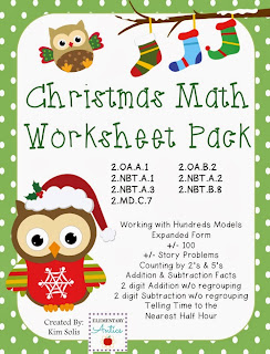 http://www.teacherspayteachers.com/Product/Christmas-Math-Worksheet-Pack-978383